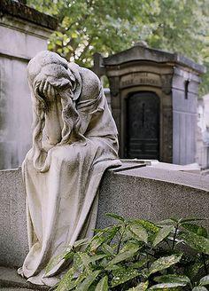 The Eternally Weeping Woman. Montparnasse Cemetery – Paris