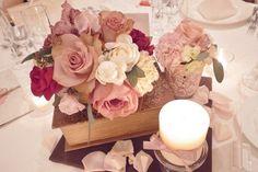 キャンドルとお花と箱。