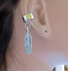 Ear Cuff Wrap Cartilage Non Pierced Feather Charm