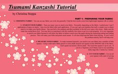 "Kanzashi Tutorial - Part I by ~Kurokami-Kanzashi - I've used this to make a traditional Kanzashi set with 1"" x 1"" squares.. to say it was labor intensive and time consuming is an understatement. It took me about a month to do the entire set :P"