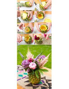Decoração de mesa com frutas >> Uma ideia bem tropical para seu dia! :) #decoração #mesa #dicas #frutas