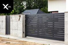 Boundary Walls, Arch House, Concrete Fence, Modern Fence, Fence Design, Gate, Garage Doors, Exterior, Landscape