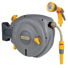 Ordinaire Hozelock 2485 Autoreel Automatic Retractable Hose Reel U2013 Wall Mounted 10m  Hose U0026 2676 Multi Spray