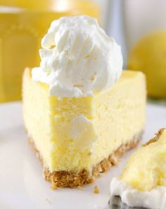 The Best Lemon Cheesecake. Ever - - Lemon cheesecake is an ultimate cheesecake. It's fresh, and feel so summery yet it's a great dessert for any season. These lemon cheesecake so yummy…. Lemon Desserts, Great Desserts, Lemon Recipes, Dessert Recipes, Lemon Cheesecake Recipes, Refreshing Desserts, Cheesecake Desserts, Best Cake Recipes, Sweet Recipes