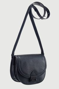 "The crossbody bag has become an accessories classic and Loeffler Randall's Saddle Bag is one you'll carry for years to come. Crafted out of soft pebbled leather this bag features the brand's signature front lock. It's small enough to carry all day long but has plenty of room for your essentials.<ul><li>6""W x 7""H x 3 ¼""D. (Interior capacity: small.)</li><li>11 ½"" - 24"" crossbody strap drop.</li></ul>"