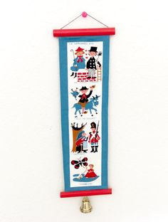 Small Danish Modern Wall Hanging Fairy Tales by by LinensandThings