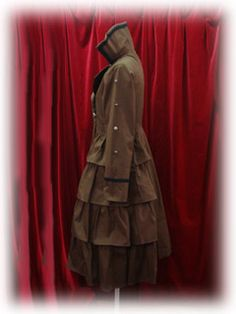 Alice & the Pirates / Outerwear / Side Frill Standing Collar Long Coat  Try this in grey