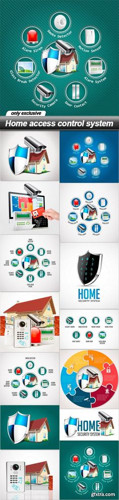 Home access control system - 14 EPS - stock images - Free Graphics, Free WordPress Themes & Scripts app Security Solutions, Home Security Systems, Access Control, Control System, Graphics, Free, Graphic Design, Printmaking