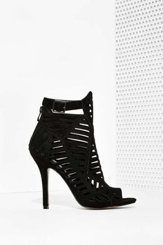 Empire Cutout Bootie - Black