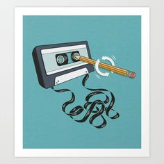 We're a little nostalgic today with our favorite picks from Society 6 that include, art prints with cassette tapes, records, VHS, and video games.