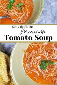 """Tomato soup with browned noodles, cumin, onion, garlic, and chicken stock. Sometimes just known as """"sopita"""" it's a favorite among all the kids! Kid Recipes, Easy Dinner Recipes, Mexican Food Recipes, Soup Recipes, Keto Soup, Vegan Soup, Veal Stew, French Soup, Pork Soup"""