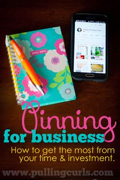 Pinning for business is very different than pinning for pleasure.  Come find out my 5 tips to help you get noticed in the giant land of Pinterest! #pullingcurls