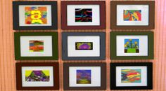 Display your child's artwork in an inexpensive frame. Each month, change the picture, placing the old one behind the new one in the frame. At the end of the year, copy the pictures and use them to make custom calendars for holiday gifts for the grandparents.