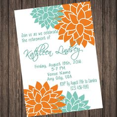 Floral Retirement Party Invitation by SweetTeaSpecialties on Etsy