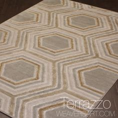 gold & silver area rug