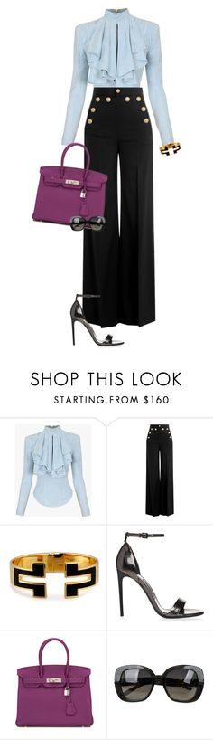 """EXECUTIVE ❤️"" by celsoromera on Polyvore featuring moda, Balmain, RED Valentino, Tory Burch, Hermès e Bottega Veneta"