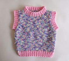 marianna's lazy daisy days: Moiselle chunky yarn sleeveless baby vest top