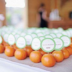 tangerine wedding favor