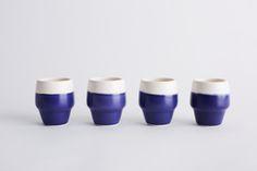 Breakfast in Blue Cup Set