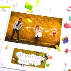 Carte a gratter annonce grossesse Photo couple