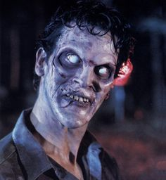 """ Bruce Campbell as deadite Ash in Evil Dead II (1987) """
