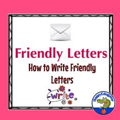 Friendly Letters by HappyEdugator Friendly Letter, Letter Formation, Letter Example, Common Core Standards, Writing Paper, Literacy Centers, Teacher Pay Teachers, Teacher Newsletter, Language Arts