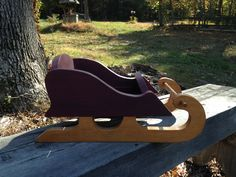 Sleigh made from scrap wood