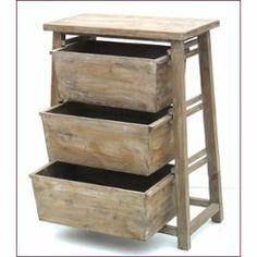 console bois exotique blanchi plateau zinc 3 tiroirs 2 tag res dessertes pinterest consoles. Black Bedroom Furniture Sets. Home Design Ideas