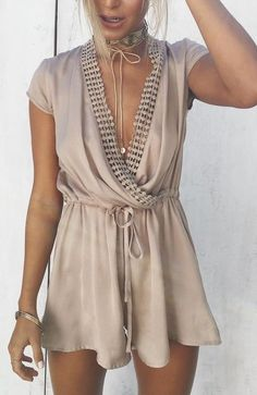 #summer #ultimate #outfits |  Chain Silk Paysuit