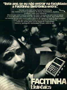 Facitinha Eletrônica #Brasil #anos70 #retro #anunciosAntigos #vintageAds