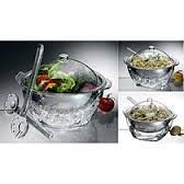 Salad On Ice by Prodyne is the perfect serveware for all types of salads that you want to keep perfectly chilled while you serve! Comes complete with a lid and salad servers which make it a complete set to take for pot luck parties!  Offered for sale @ $46.95.  Stop in and check it out today!