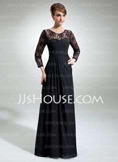 Mother of the Bride Dresses - $154.99 - A-Line/Princess Scoop Neck Floor-Length Chiffon Lace Mother of the Bride Dress With Ruffle (008006103) http://jjshouse.com/A-Line-Princess-Scoop-Neck-Floor-Length-Chiffon-Lace-Mother-Of-The-Bride-Dress-With-Ruffle-008006103-g6103