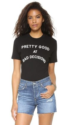 Wildfox Bad Decisions Legend Tee Bodysuit