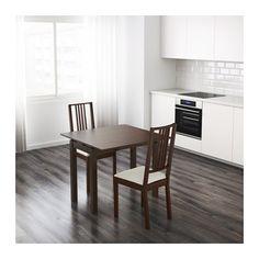 BJURSTA Extendable table, brown