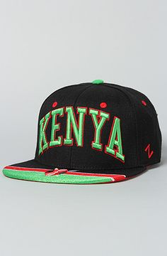 The Kenya Olympic Snapback Hat in Black by Z Hats