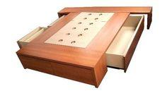 cama con cajones / base sommier para colchon / opcional respaldo mesas de luz