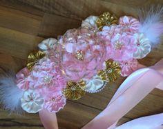 Deslumbrante rosa marco maternidad vientre por SundayChildBoutique