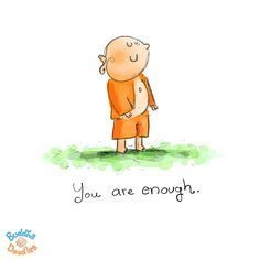 Today's Buddha Doodle -- Just Perfect Like You