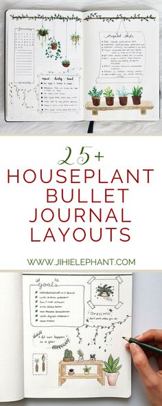 If you are anything like me you are obsessed with house plants and you have way too many—yet not enough… Back in October, I had a houseplant themed bullet journal, and to this day it is still my favorite. Because of this, I wanted to share my houseplant layouts and other incredibly inspiring house plant themed bullet journal layouts with you to inspire your bullet journaling! Check out the layouts below!