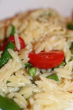 Lemon, asparagus, orzo salad. Can be served hot or cold.  Notes - I've made this a few times now and it is always fantastic. Can be a meal on it's own. I always add more garlic than the recipe calls for. It's worth it.