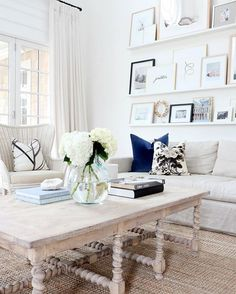 Our #studiomcgeehc navy velvet pillow in @monikahibbs dream of a living room.