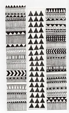 Geometric patterns please me. Geometric Patterns, Color Patterns, Print Patterns, Geometric Designs, Tattoo Patterns, Fun Patterns, Pattern Ideas, White Patterns, Surface Pattern