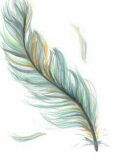 Original Drawing/Illustration - Blue Feather - I want this tattoo! So beautiful and delicate, I love it! Feather Drawing, Feather Tattoo Design, Watercolor Feather, Feather Art, Blue Feather, Plume Tattoo, Henna Feather, White Feather Tattoos, Tattoo Watercolor