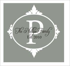 Family Monogram Vinyl Decal Personalized by CustomVinylbyBridge, $28.00