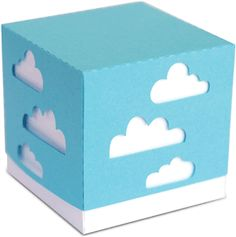 Silhouette Online Store: 3d cloud party favor box