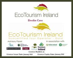 Gold award from Eco-Tourism Ireland for standards of excellence in sustainable tourism!! #ecotourism