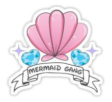 High quality Mermaid gifts and merchandise. Inspired designs on t-shirts, posters, stickers, home decor, and more by independent artists and designers from around the world. Kawaii Stickers, Laptop Stickers, Cute Stickers, Patches Tumblr, Printable Stickers, Planner Stickers, Diy Cadeau Noel, Mermaid Gifts, Tumblr Stickers