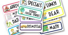 a year of many firsts: daily schedule cards (free) and 2nd grade back-to-school packet