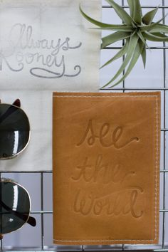 This handmade leather passport cover is perfect for your next getaway! The Earhart is named after the famous pilot and perfect for the
