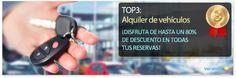 TOP 3 servicios más demandados marzo 2013: Alquiler de vehículos